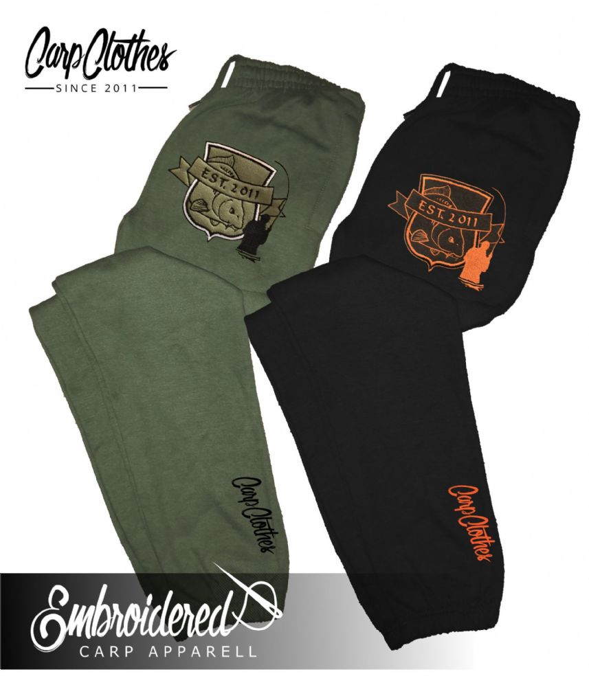 029 EMBROIDERED CARP JOGGERS